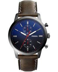 Fossil - 44mm Townsman Grey Watch - Lyst
