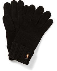 Polo Ralph Lauren - Signature Merino Tech Glove W/ Palm Patch - Lyst