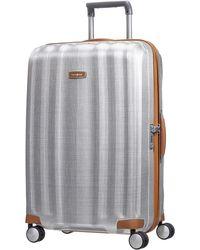 Samsonite Lite Cube Deluxe 55cm Small Suitcase - Metallic