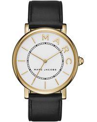 Marc Jacobs - Ladies Roxy Watch Black/white/gold - Lyst