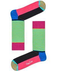 Happy Socks - Half Stripe Sock - Lyst