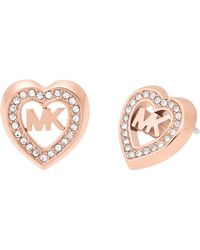 Michael Kors - Love Is In The Air Rose Gold Tone Stud Earring - Lyst