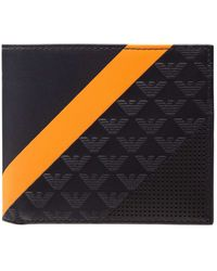 Emporio Armani - Linea Minorca Stripes 4cc Billfold Wallet W/ Coin Pouch - Lyst