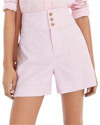 J.Crew Triple Button Linen Short - Pink