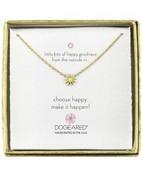 Dogeared Mini Starburst Little Bits Of Happy Boxed Reminder Necklace - Metallic