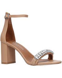 Kurt Geiger - Leather Queenie Sandals 75 - Lyst