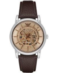 Emporio Armani - Luigi Brown Watch - Lyst