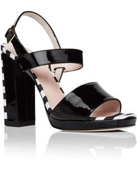 Kate Spade - Brax Block Heel Stripe Platf Sandal - Lyst