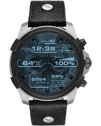 DIESEL - Full Guard Black Smartwatch - Lyst