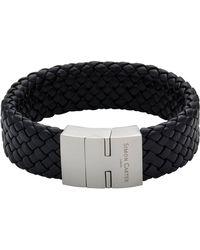 Simon Carter - Black Wide Woven Bracelet - Lyst