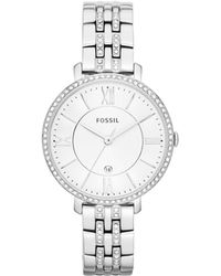 Fossil - Jacqueline Silver Watch - Lyst