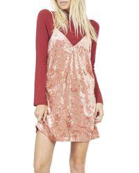 MINKPINK | Velvet Slip Dress | Lyst