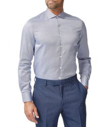 Simon Carter - L/s Cotton Oxford Dobby Plain S/cuff - Lyst