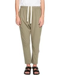 Bassike Panelled Slouch Jersey Pant - Green