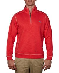 Tommy Bahama Tobago Bay Half Zip - Red