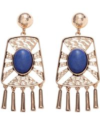 Samantha Wills Stone Tassel Earrings - Blue