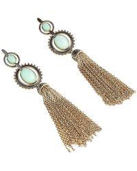 Samantha Wills Soul's Flame Tassel Earrings - Metallic