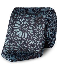 Ted Baker - Outlined Floral 7cm Tie - Lyst