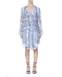Thurley - Wedgewood Print Wrap Dress - Lyst