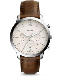 Fossil - Neutra Chrono Brown Watch - Lyst