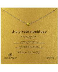 Dogeared - Gold Plated Circle Necklace - Lyst