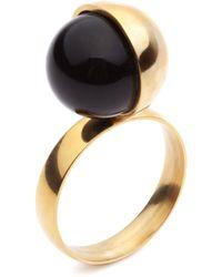 Amber Sceats - Half Moon Ring - Lyst