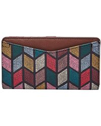 Fossil Caroline Rfid Slim Bifold Wallet - Multicolour