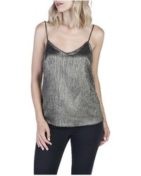 PAIGE - Cicely Metallic Camisole - Lyst