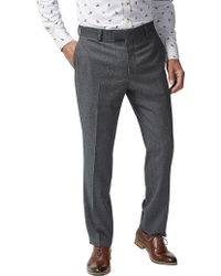 Simon Carter Wool Diamond Texture Suit Trouser - Gray