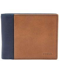 Fossil - Ward Rfid Flip Id Bifold - Lyst