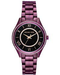 Michael Kors - Lauryn Purple Watch - Lyst