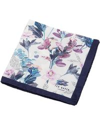 Ted Baker - Floral Print Pkt Sq - Lyst
