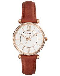 Fossil - Carlie Brown Watch - Lyst
