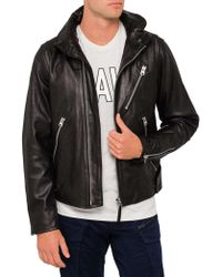 G-Star RAW - Empral 3d Leather Jacket - Lyst