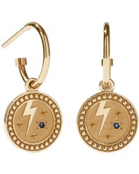 Meadowlark Amulet Strength Earrings - Metallic