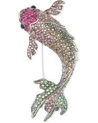 Calibre Koi Fish Lapel Pin - Multicolour