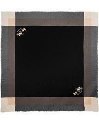 COACH - Windowpane Challis Scarf - Lyst