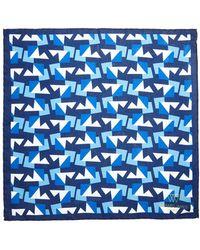Richard James - Sharp Geometric Silk Pocket Hank - Lyst