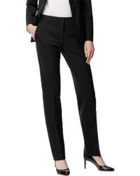 BOSS - Straight-leg Business Trousers In Stretch Wool - Lyst