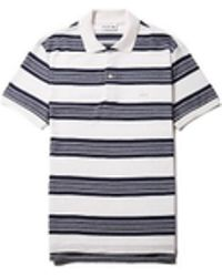 Lacoste - Mens Ss Ribbed Striped Polo - Lyst
