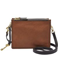 Fossil - Campbell Colorblocked Cross-body Bag - Lyst
