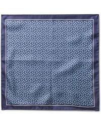BOSS - Small Paisley Silk Pocket Square - Lyst