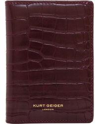 Kurt Geiger Eagle Wallet - Purple