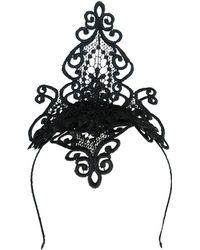 Morgan Taylor Lace Fascinator - Black
