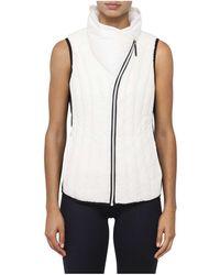 Calvin Klein Down Filled Asymmetrical Zip Vest - White