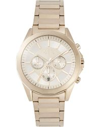 Armani Exchange - Drexler Gold-tone Watch - Lyst