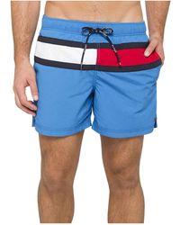Tommy Hilfiger - Flag Trunk Swim Shorts - Lyst