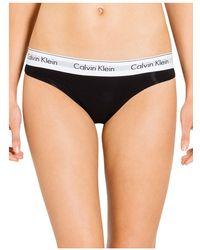 Calvin Klein - Modern Cotton Thong F3786 - Lyst