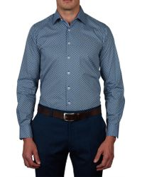 Geoffrey Beene - Pow Mow Print Slim Fit Shirt - Lyst