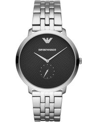Emporio Armani - Stainless Steel Bracelet Watch 42mm - Lyst